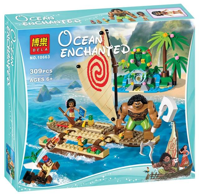 309pcs Princess Moana Ocean Voyage Building Blocks Moana Island ...