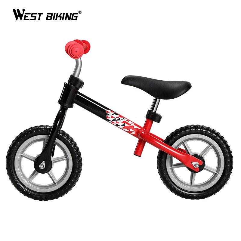 WEST vélo enfants Balance vélo réglable marcheur bambin vélo Scooter pas de pédale équitation jouets 2-4 ans enfants marcheur