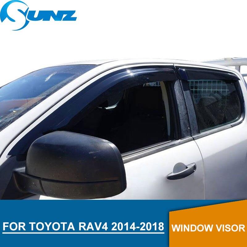 Pour Toyota Rav4 2014-2018 Fenêtre Visière déflecteur Garde De Pluie pour Toyota Rav4 2014 2015 2016 2017 2018 SUNZ