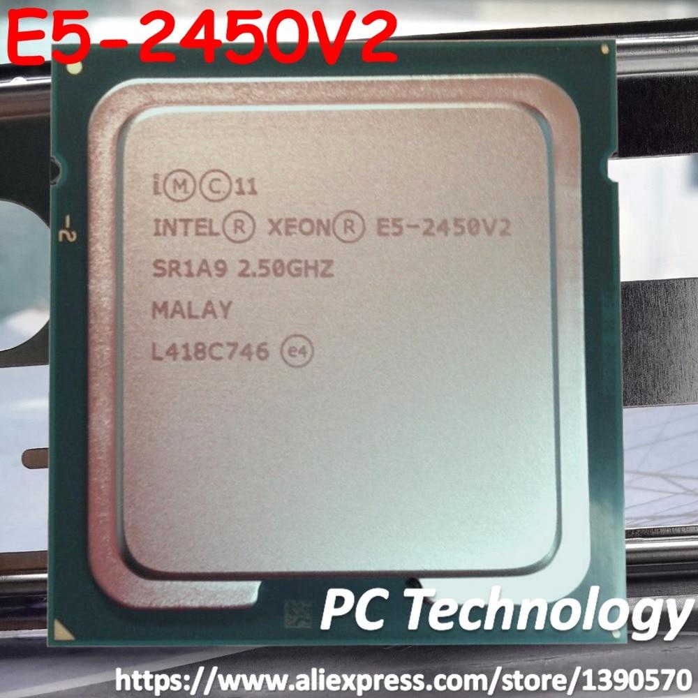 Original Intel Xeon processor E5 2450V2 2 5GHZ 8 Core E5 2450 V2 20MB SmartCache E5