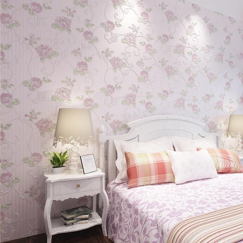 european non woven wallpaper rural 3 d romantic sweet bedroom livingeuropean non woven wallpaper rural 3 d romantic sweet bedroom living room tv setting wall paper