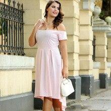 Summer temperament commute word collar card shoulder tube irregular skirt dress female free shipping