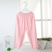 2016 Cool Summer Candy Kids Pants Unisex Children Against Mosquito Cotton Bourette Pajama Bottoms Boys Girls Yoga Sport Trousers