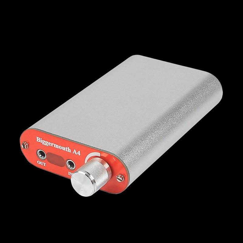 ФОТО 2016 NEW Biggermouth A4 Class A 0PA2604 Headphone Stereo Audio Amplifier 3.7V 950mA Rechargeable DIY Portable Headphone Amp