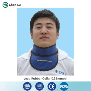 Image 1 - Medical exposure radiation protection 0.35mmpb thyroid collar x ray protective radiological department accessories