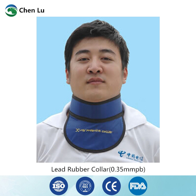 Medical exposure radiation protection 0.35mmpb thyroid collar x ray protective radiological department accessories