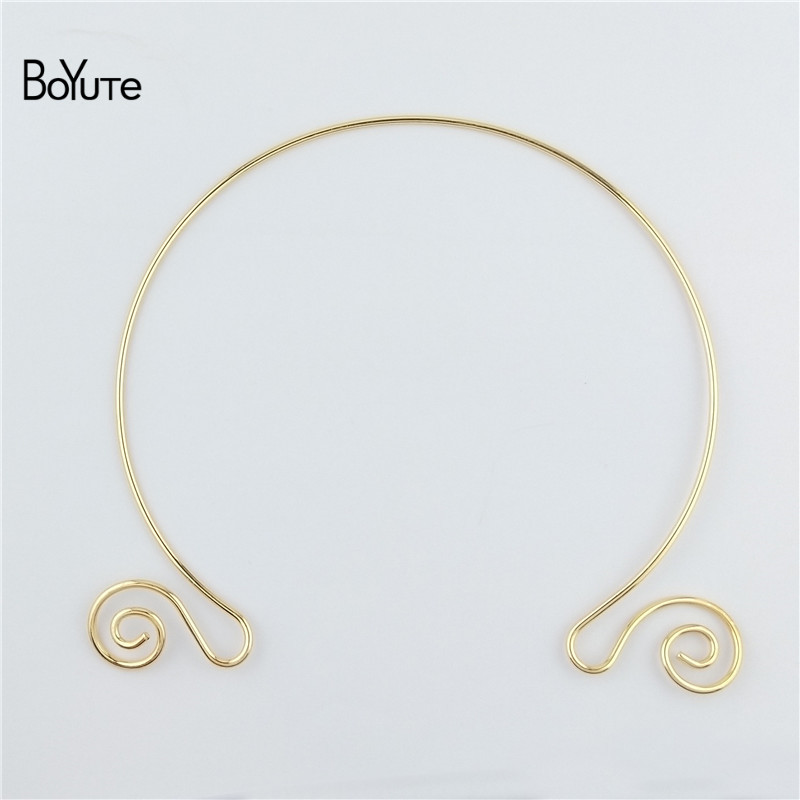 BoYuTe 1552MM Metal Copper Women Wreath Collar Choker Necklace Diy Jewelry Accessories (6)