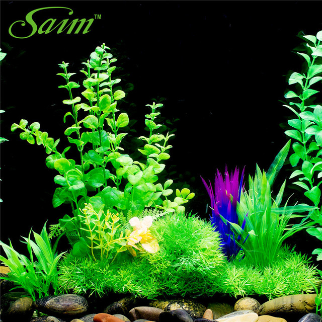 2017 New Artificial Plants Beautiful Flowers Plastic Growing Effect  Aquarium Aquascaping Tank Decor For Fish Accessories