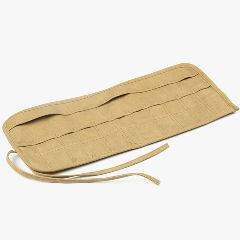 Yellow Canvas Carving Tool Bag Portable Storage Case Carpenter Carrying Knife Roll Painting Clay Sculpting Woodworking Pouch B35
