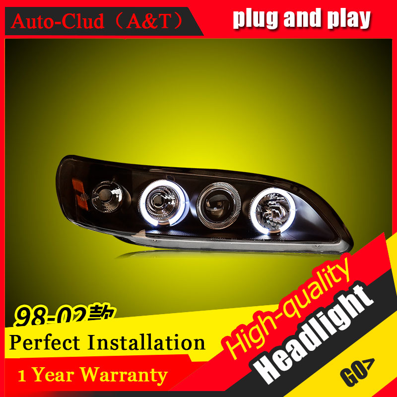 Auto Clud Car Styling For Honda Accord headlights 1999-2002 For Accord head lamp led DRL front Bi-Xenon Lens Double Beam HID KIT kingsun rear adjustable ball joint camber control suspension arm kit for 1990 1997 honda accord acura cl tl1996 1999 blue