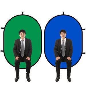 Image 2 - 1*1.5M 2 en 1 Photo pliable réversible Chromakey fond toile de fond panneau/vert bleu réflecteur de lumière pour Youtube Studio