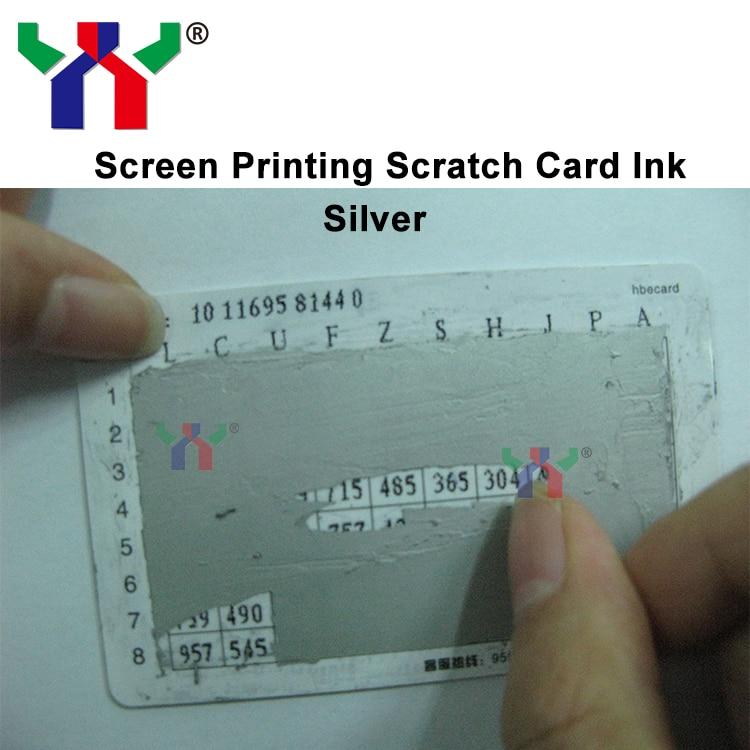 Zeefdruk Scratch Off Zilveren Inkt Voor Cover Met Vernis Papier In
