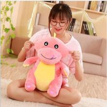 WYZHY Down cotton eye pink green dinosaur doll plush toy to send friends children 50CM