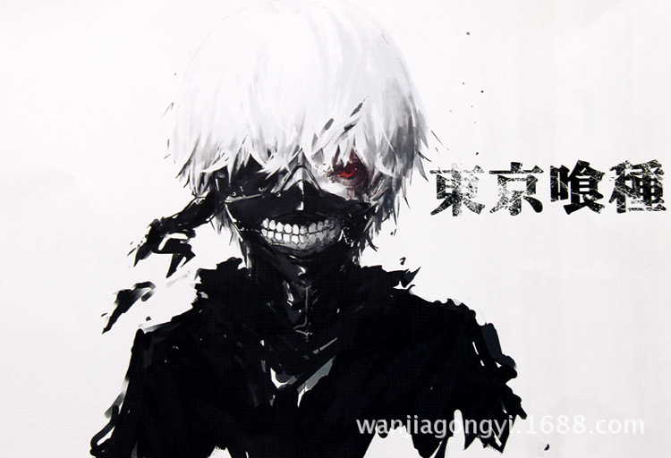 2015 Hot Cartoon Anime Tokyo Ghoul Embossing Posters High Quality Size42 X 29 Cm Birthday Gift 8pcs Sets In Wall Stickers From Home Garden