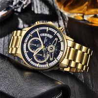 ยอดนิยม NIBOSI Relogio Masculino ผู้ชายนาฬิกาแบรนด์หรู Quartz Chronograph นาฬิกาแฟชั่นชายนาฬิกากันน้ำกันน้ำ