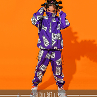 Children Dance Costume Jazz Wear Girl Boy Style Sequin hip hop Dance Jazz Kids Competitions Performance Stage Clothing DQI373