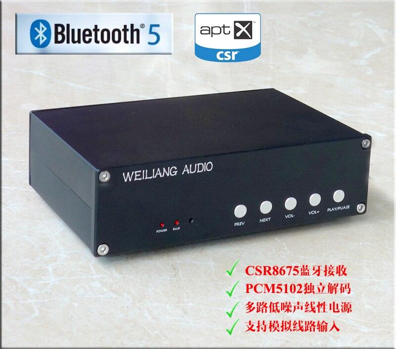 SNY-30A CSR8675 Bluetooth 5.0 récepteur PCM5102 DAC décodeur avec entrée analogique nouveau