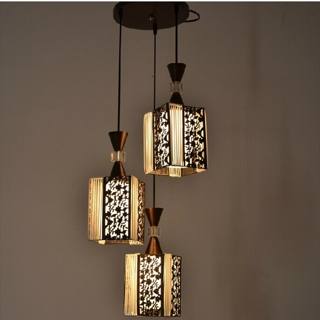 Vintage pendant light Oak Wood+wicker lamp wooden holder Hanging ...
