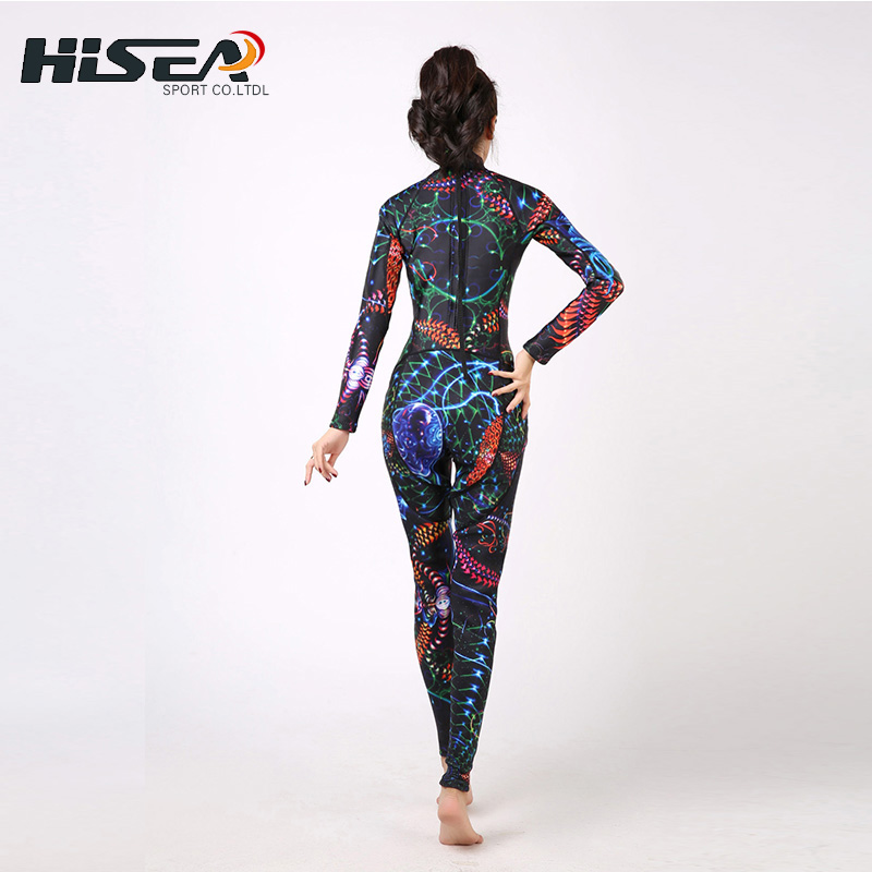 New Adults 3mm Long- sleeved Siamese Diving Suit Women Sunscreen Swimming Jellyfish Outdoor Quick - drying Surfing Clothing колготки vienetta kids