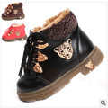 new 2016 snow boots baby boots boot children shoes winter shoes for girls boys Metal leopard head thickened tendon 1-231
