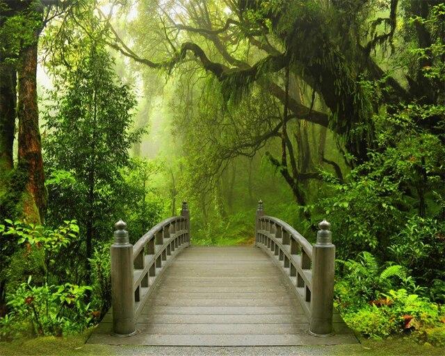 Beibehang Kustom Wallpaper Pemandangan Alam Tenang Hutan