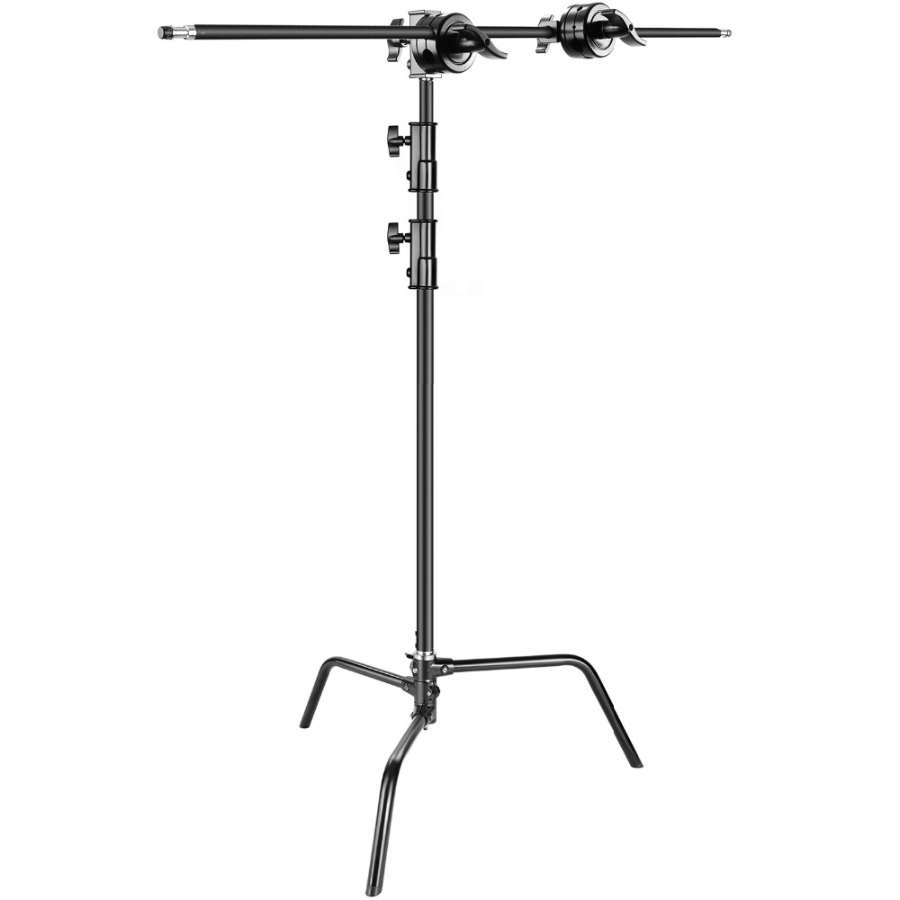 Neewer Photo Studio Heavy Duty 10 feet Adjustable C-Stand 3.5 feetHolding Arm 2 Pieces Grip Head for Video Reflector Monolight