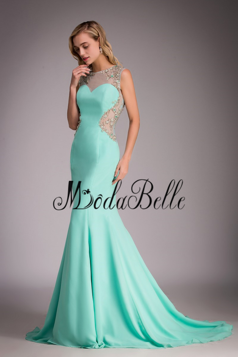 Sexy Open Back Mint Colored Prom Dress 2017 Long Mermaid Vestidos De ...