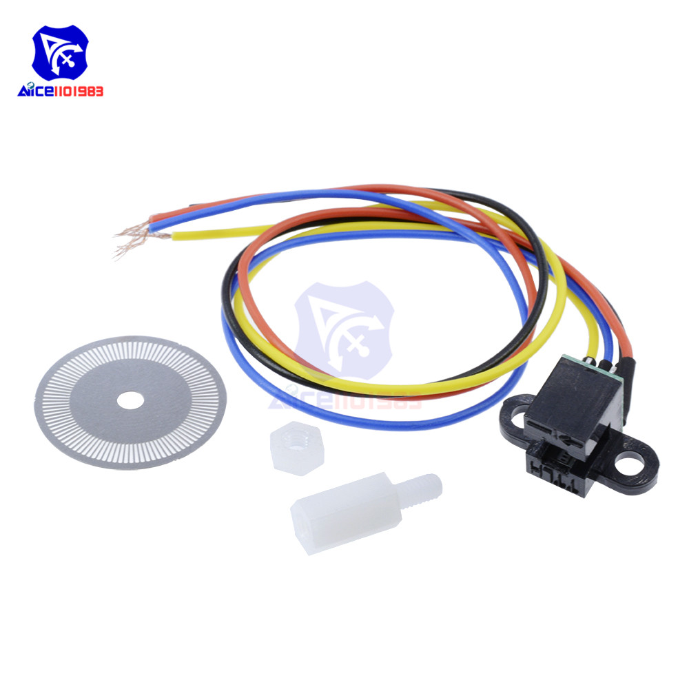 Image 2 - Photoelectric Speed Sensor Encoder Code Disc Disk Code Wheel for Freescale Smart Car 5V Laser Cutting Quadrature Signal Output-in Integrated Circuits from Electronic Components & Supplies