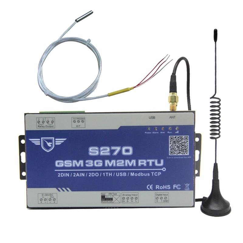 3G 4G LTE Industrial RTU GPRS RTU Modbus Gateway integrated Cloud Platform Supports Modbus RTU over TCP with PT100 S2703G 4G LTE Industrial RTU GPRS RTU Modbus Gateway integrated Cloud Platform Supports Modbus RTU over TCP with PT100 S270
