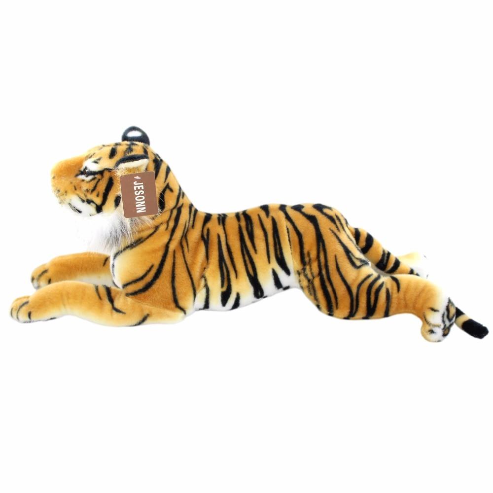 JESONN Lifelike Stuffed Animals Tiger Leopard Realistic Plush Soft Toys Cheetah Pillows for Kids' Gifts,60CM