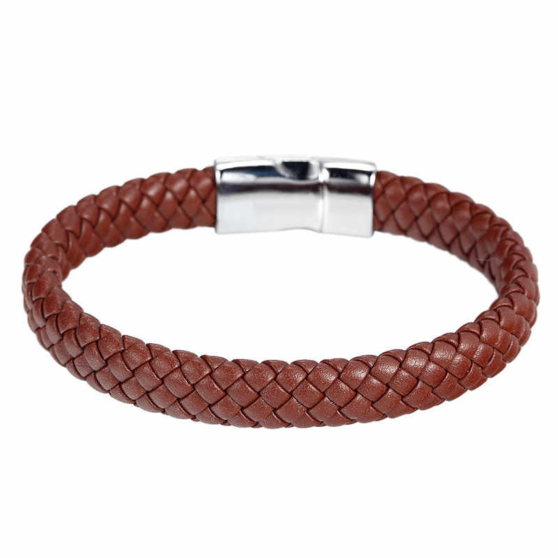 2017 New Arrival Magnet leather Bracelet Bangle Genuine Leather Hand Chain Buckle friendship men women bracelet