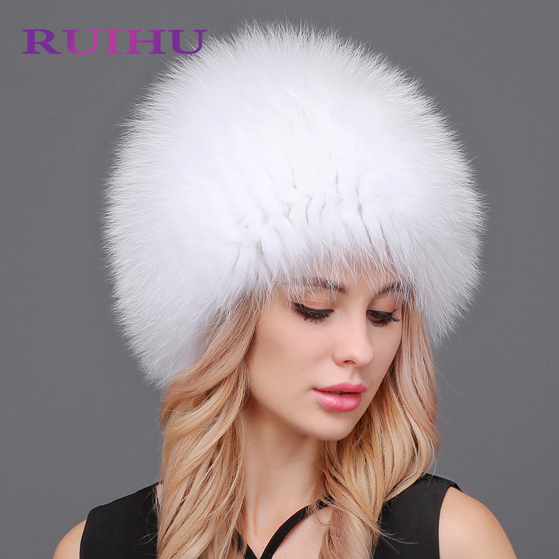 Women Fox Fur Hats Winter For Men Women Elastic Luxury Caps Lined Real Raccoon Genuine Fox Fur Russian Bomber Hats free shipping 2017 new dot turban hats hijab caps for women ladies