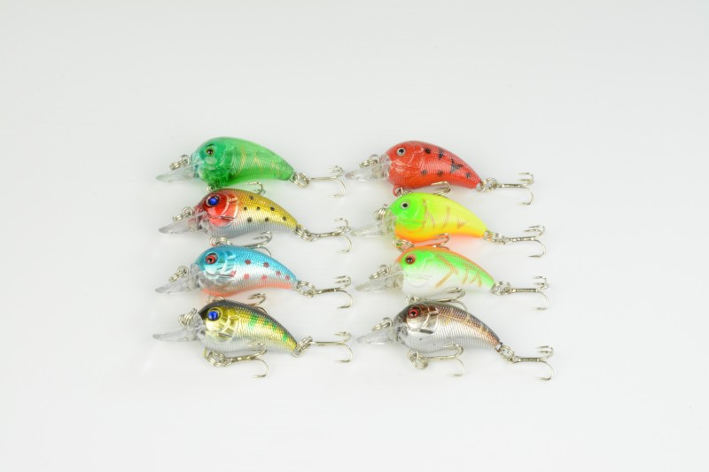 800pcs Crankbait Lure Hooks Crank baits 4.5CM 4.2G Hard Bait Minnow Fishing lures Floating lighted deep diving crankbaits
