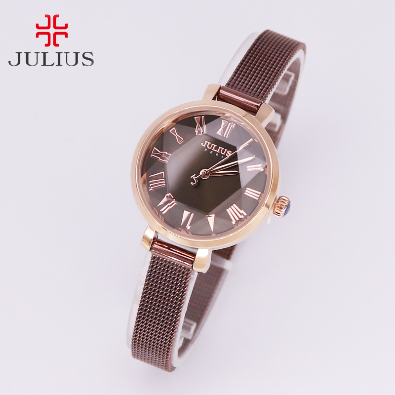 New Women's Watch Japan Quartz Hours Fine Fashion Dress Stainless Steel Chain Bracelet Simple Girl Christmas Gift Julius все цены