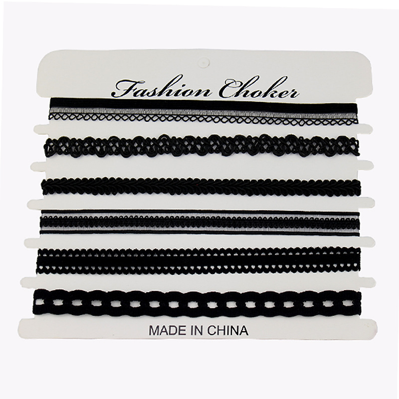 New Fashion Vintage Women Short Necklace Lace Flower Black Choker Necklace Modeschmuck