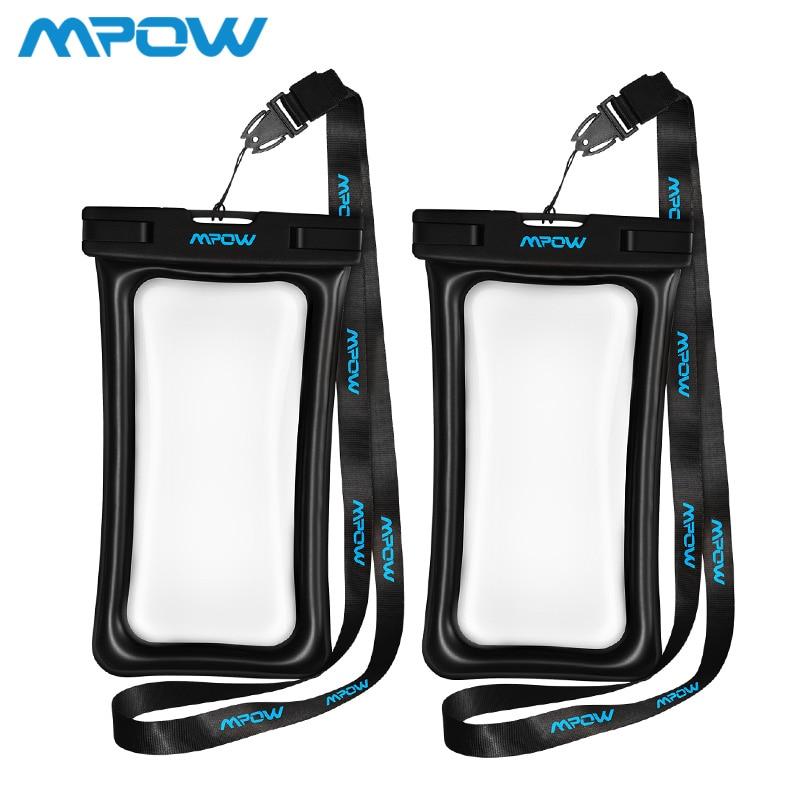 Mpow IPX8 bolsa impermeable caso Universal teléfono móvil de 6,5 pulgadas del teléfono móvil bolsa nadar caso tomar fotos bajo el agua para iPhone Xs samsung Huawei