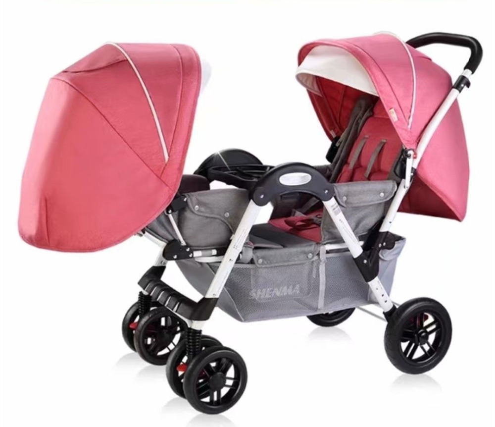 Twin Baby Strollers for Newborn Double Stroller Baby Carriage Can Sit Reclining Face to Face Child Trolley Double Baby PramTwin Baby Strollers for Newborn Double Stroller Baby Carriage Can Sit Reclining Face to Face Child Trolley Double Baby Pram