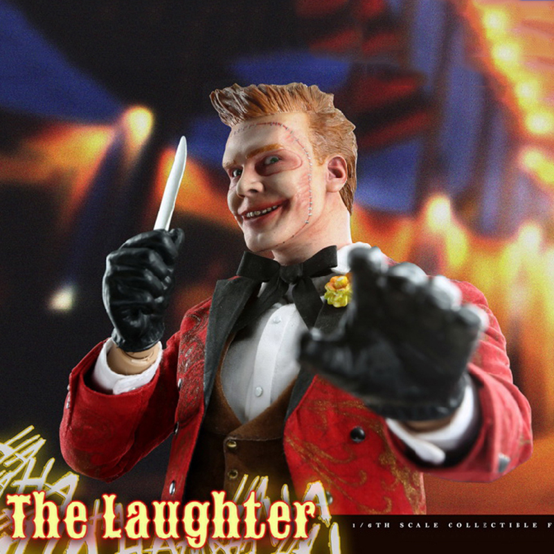 Collectible 1/6 Scale Joker The Laughter (Gotham) Action Figure Set With Movable Eyes Model