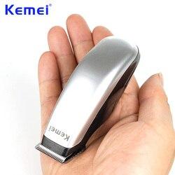 Kemei 새로 디자인 전기 머리 깎기 미니 헤어 트리머 커팅 머신 수염 이발사 면도기 스타일 도구 KM-666
