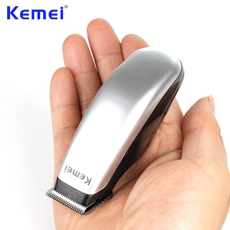 Kemei recém design elétrica máquina de cortar cabelo mini aparador cabelo máquina corte barba barbeiro navalha para ferramentas estilo masculino KM-666