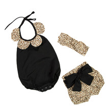 Princess Type New child Child Woman Garments Flowers Romper shorts Clothes Set Jumpsuit & Headband Three PC Cute Toddler women Rompers