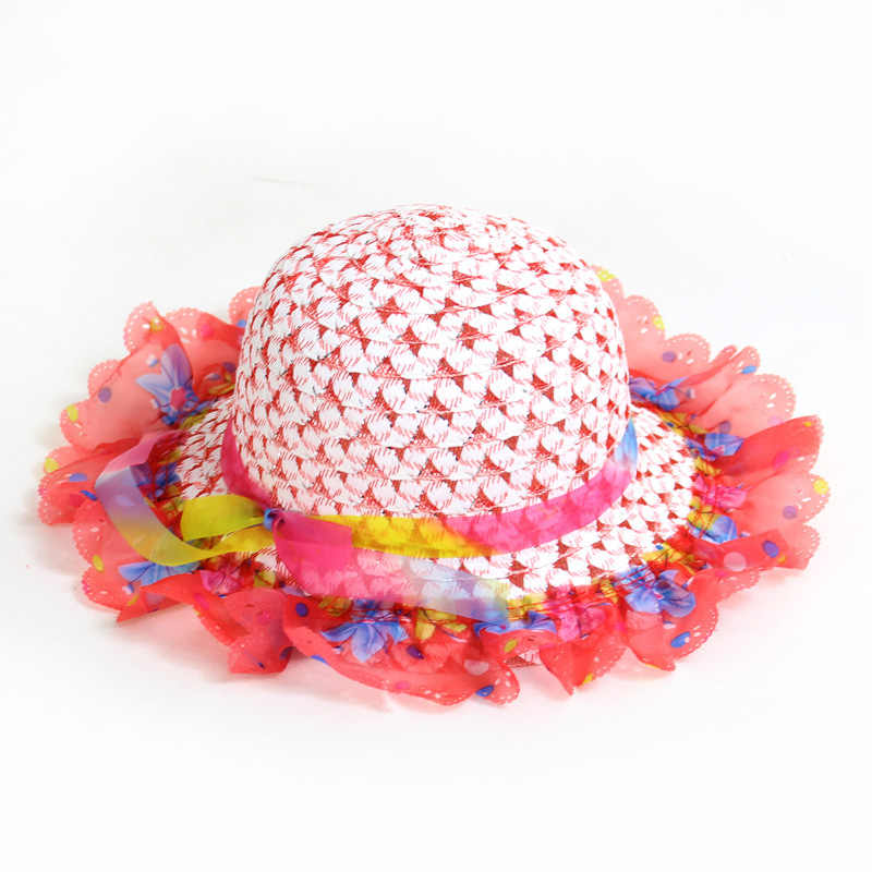 แฟชั่นหูฟางหมวกหมวกเด็กหมวกเด็กหมวกเด็กหมวกเด็กหมวกฤดูร้อนเด็ก Solid Beach ปานามาหมวก