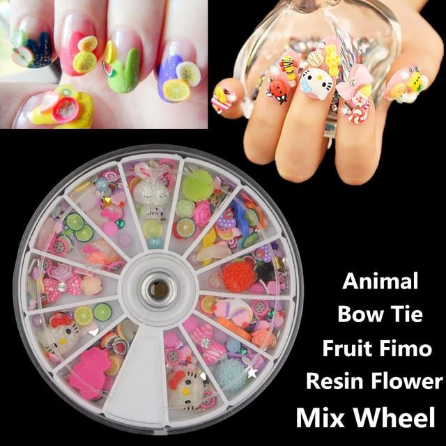1 Stks Multi Fruit Fimo Nail Art Polymer Clay Slices Decoratie