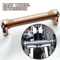 MUQZI 부시 접이식 자전거 쉬운 바퀴 연장 막대 수축 막대
