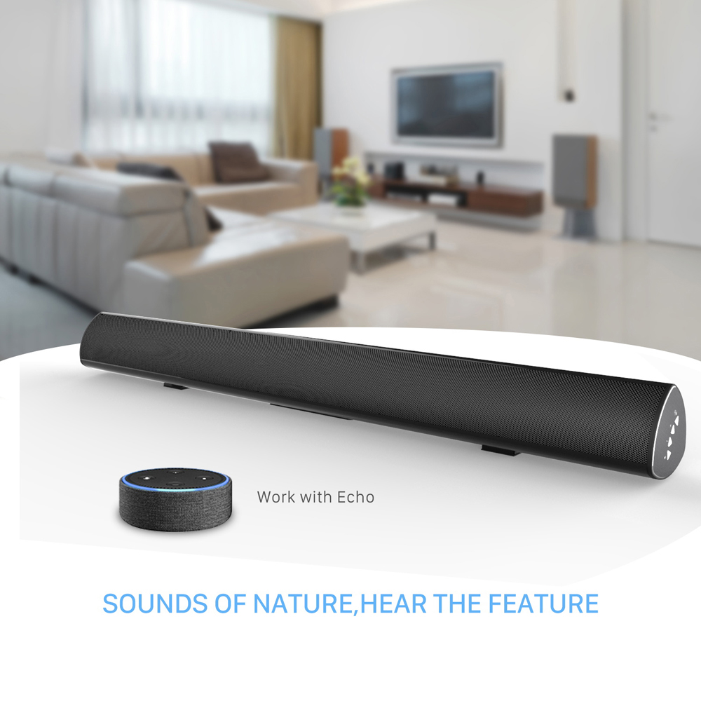 SoundBar TV Wired Connection Home Theater Audio Speaker, 80W 38-Inch Surround Sound Bar Home Theater System цена
