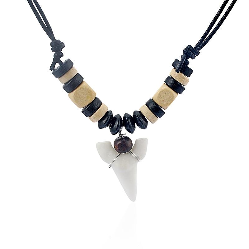 Fashion Shark Tooth Surfer Anhänger Sharks Teeth Surf Halskette - Modeschmuck - Foto 4