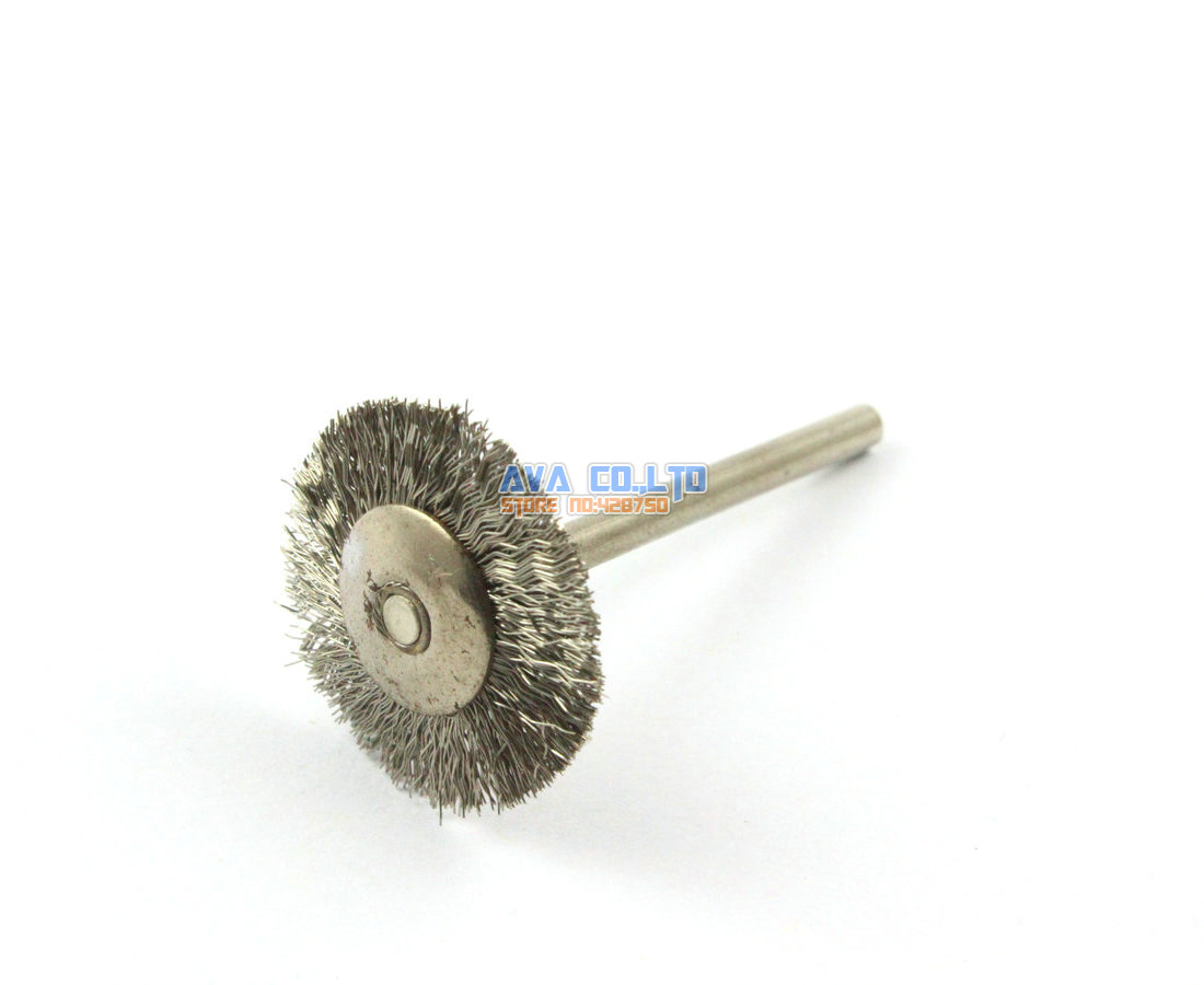 20 Pieces 22mm Stainless Steel Wire Brush Wheel for Cleaning Rust Removal