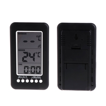 Cheaper ANENG In or Outdoor Digital Wireless Thermometer Weather Station Clock Centigrade or fahrenheit Hygrometer