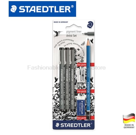 STAEDTLER 308 SBK3P 3 Pcs Art Markers Pens set Send backpack Stationery Office accessories School supplies staedtler 308 sbk3p 3 pcs art markers pens set send backpack stationery office accessories school supplies