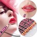 Pro 1 unids labios 5 colores de madera lápiz perfilador labial naturaleza impermeable duradera maquillaje herramientas cosméticas envío gratis M01561